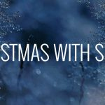 SOMM Christmas Spotify Playlist Image cover - soft snow background with title Christmas With SOMM